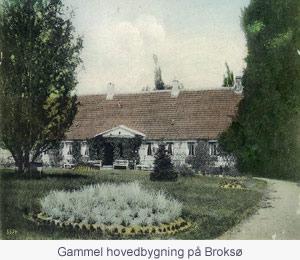 Gammel hovedbygning på Broksø